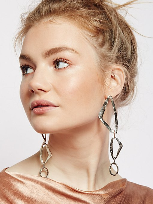 Product Image: Trazo Hoop Drop Earrings