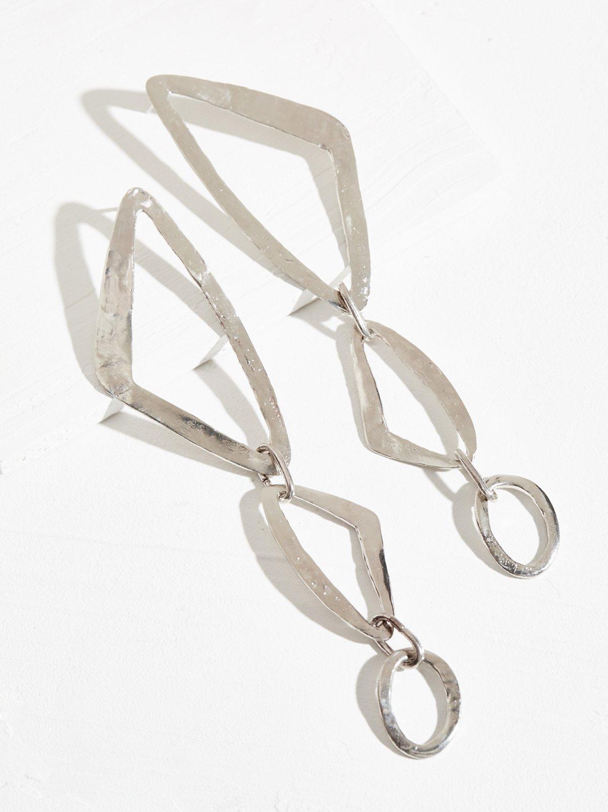 Trazo Hoop Drop Earrings