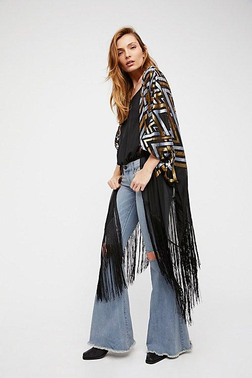 Product Image: Ruby Soho Burnout Velvet Kimono