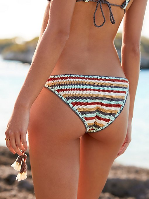 Product Image: Rainbow Stripe Side Tie Bikini Bottoms