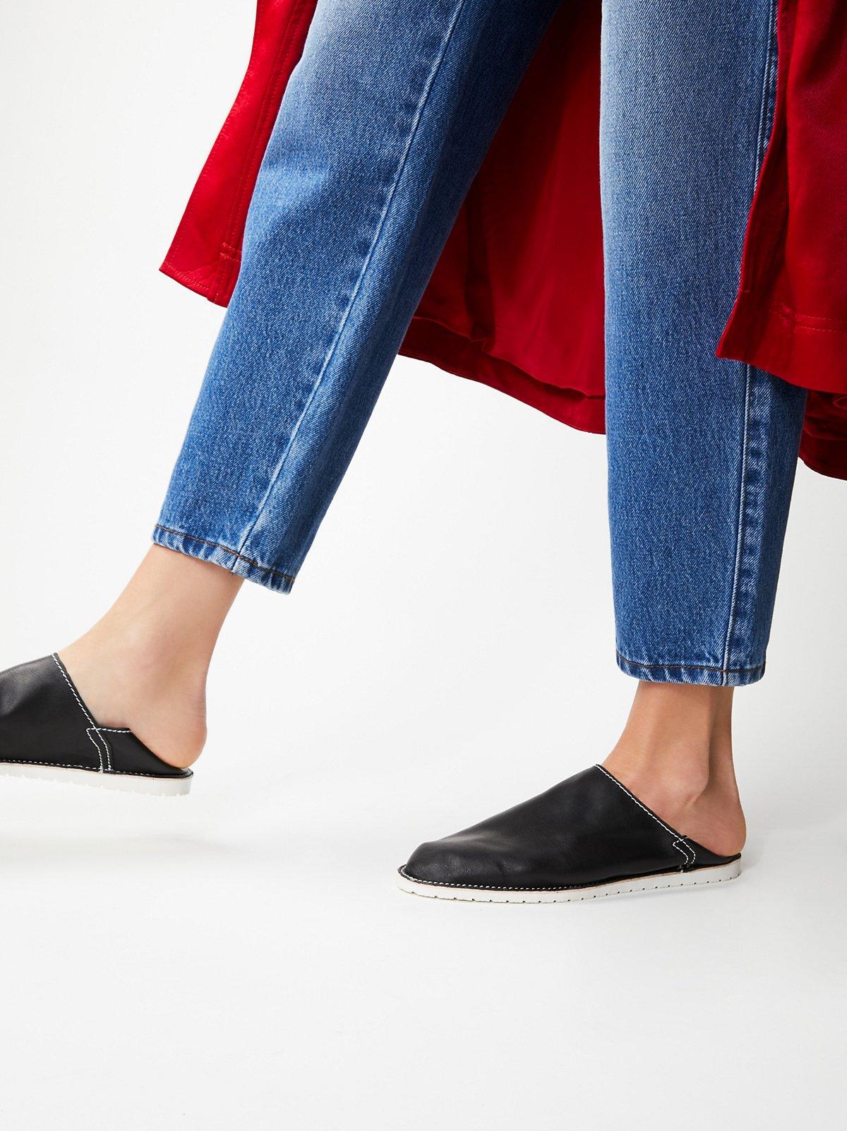 Weekdays Leather Flat