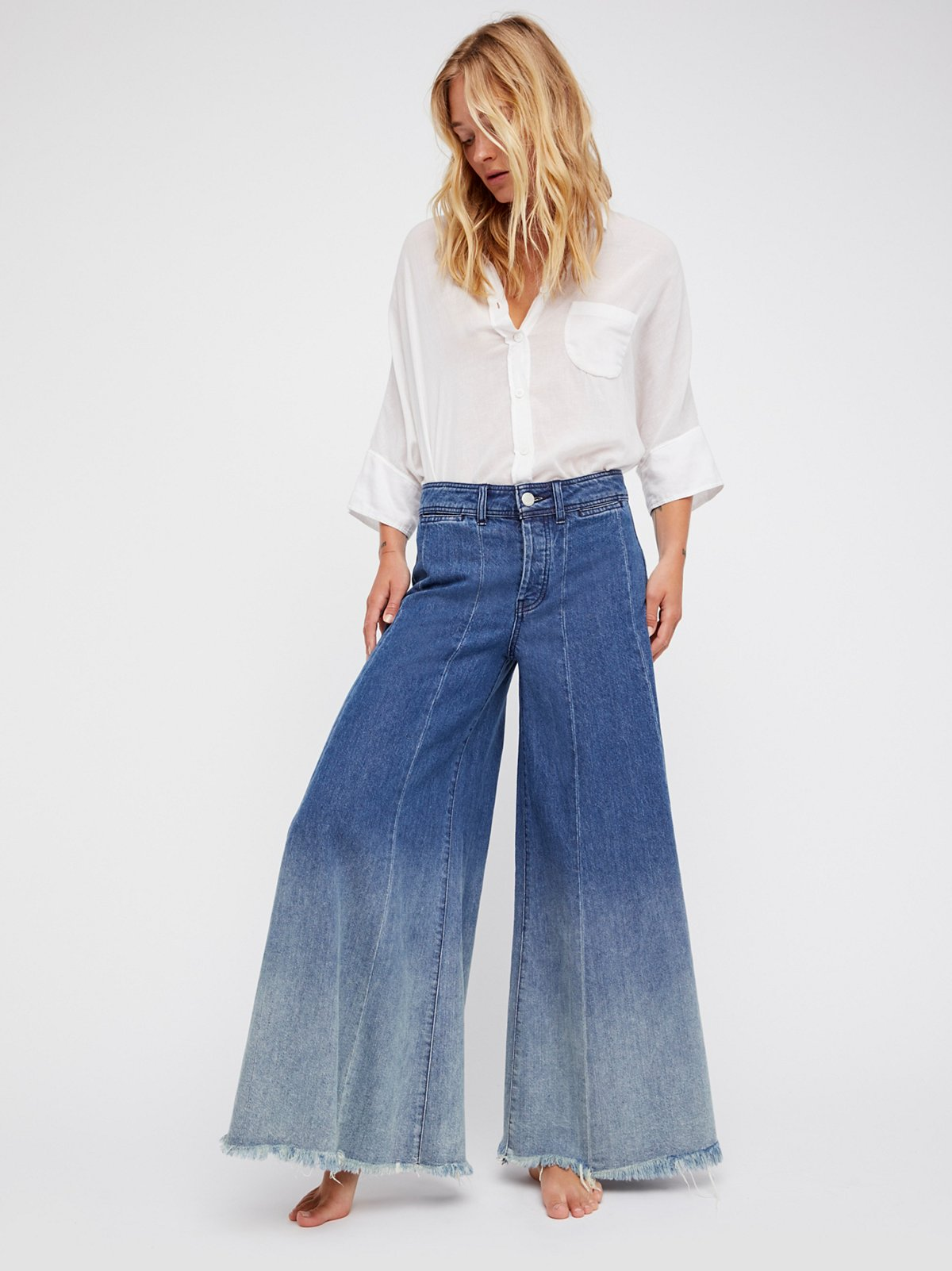 Run Through The Moss Wide Leg Jeans