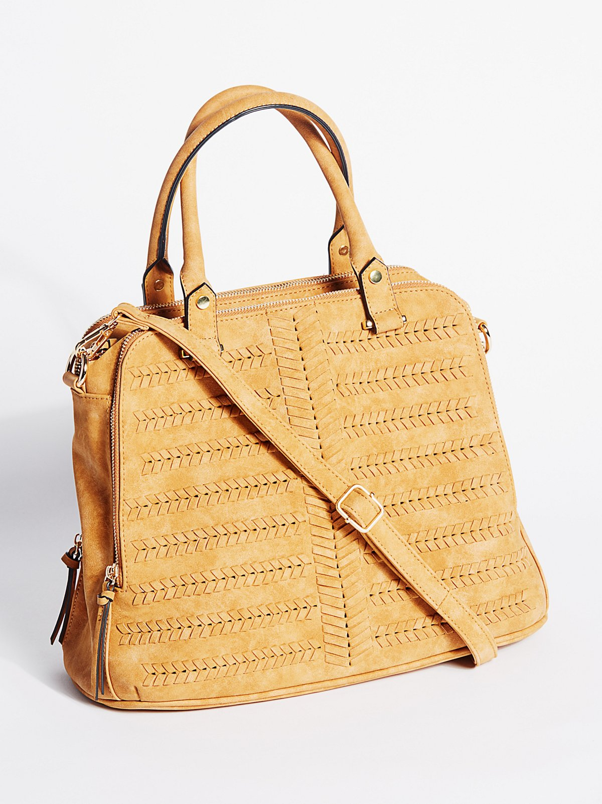 Rosa人造革手提包