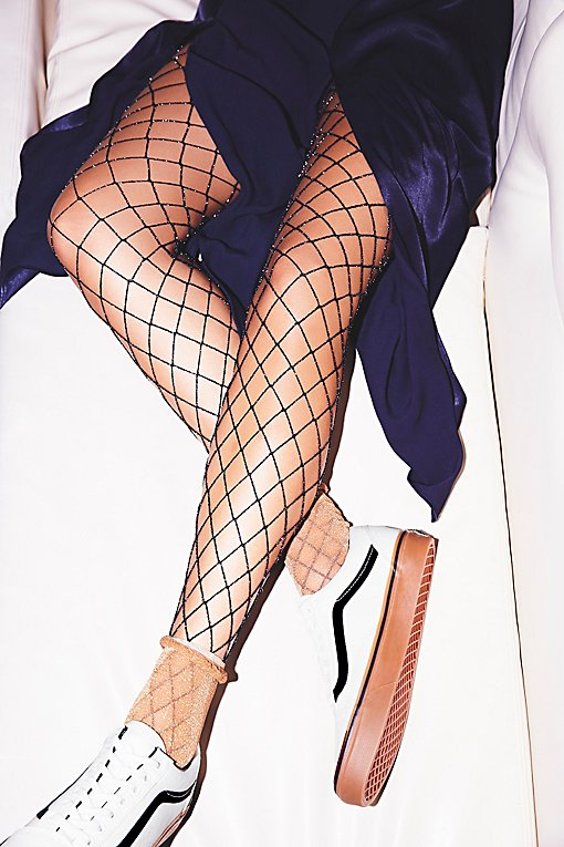 Product Image: Moonlight Lurex Fishnet Tights