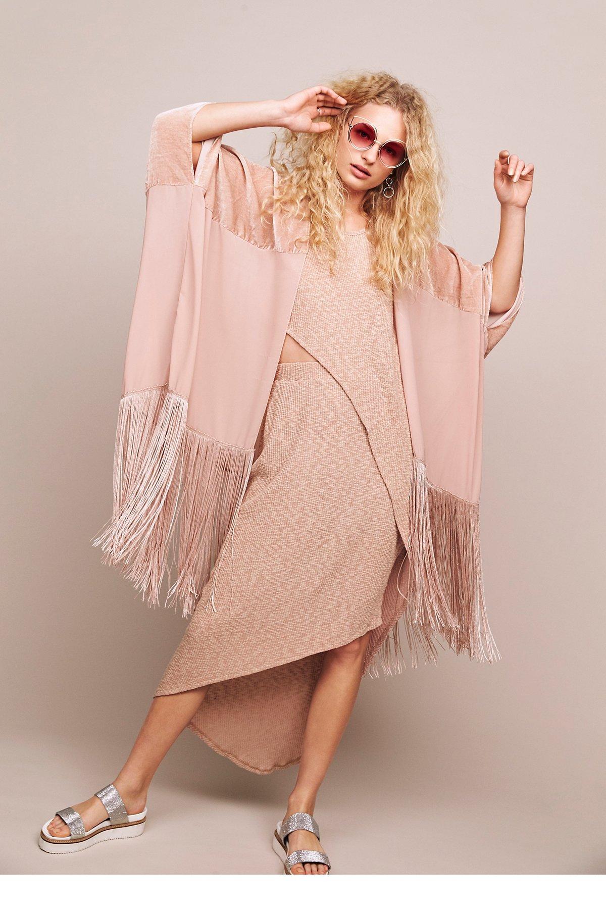 Velvet Dreams Fringe Kimono