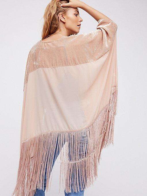 Product Image: Velvet Dreams Fringe Kimono