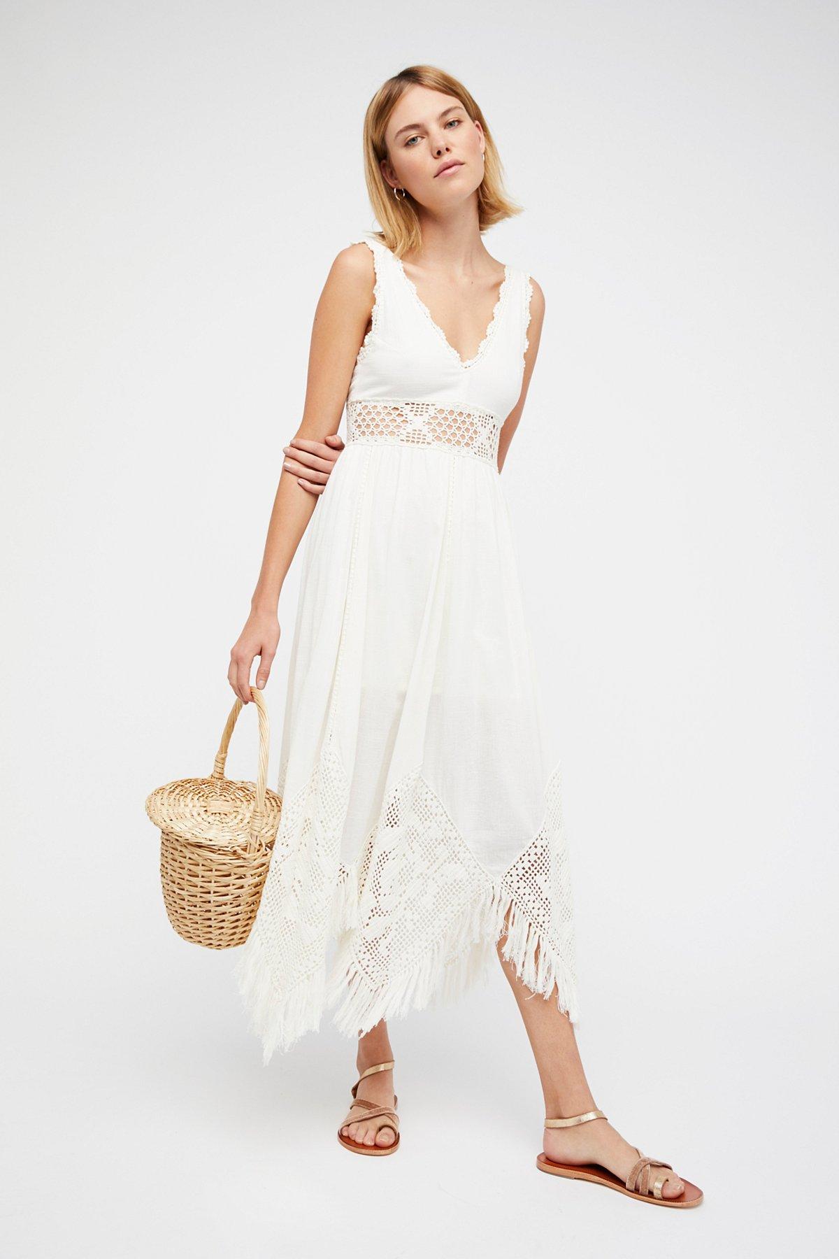 White Moon菱形图案长裙