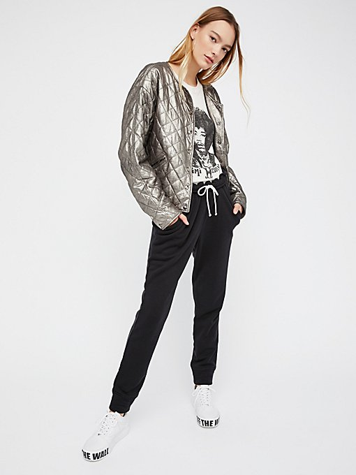 Product Image: Metallic Leather Bomber