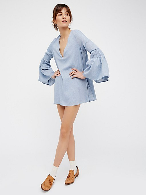 Product Image: Chambray Mini Dress Romper