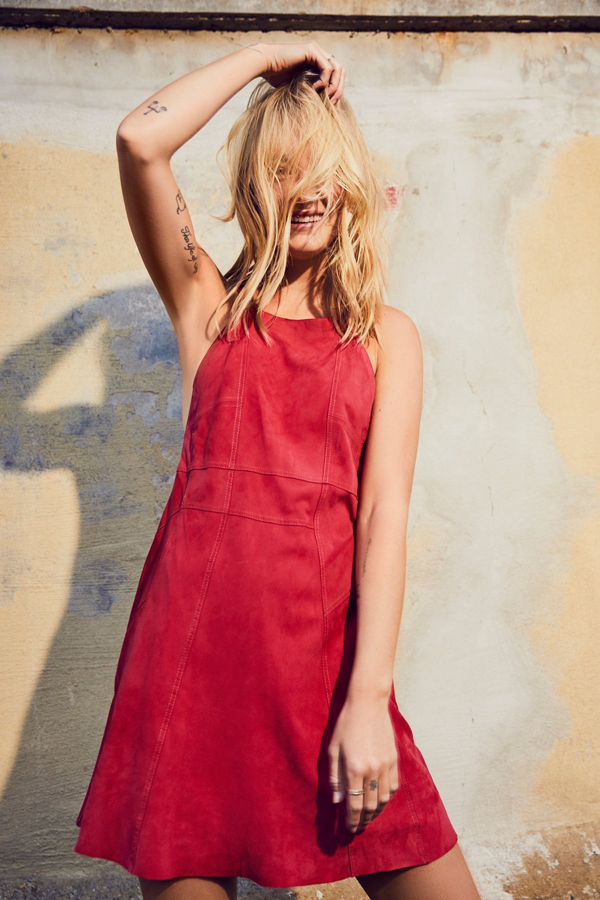 Meet In The Middle Suede Dress