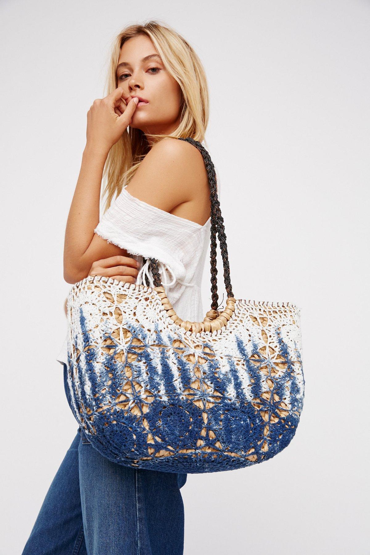 Indigo Dreams Basket Bag