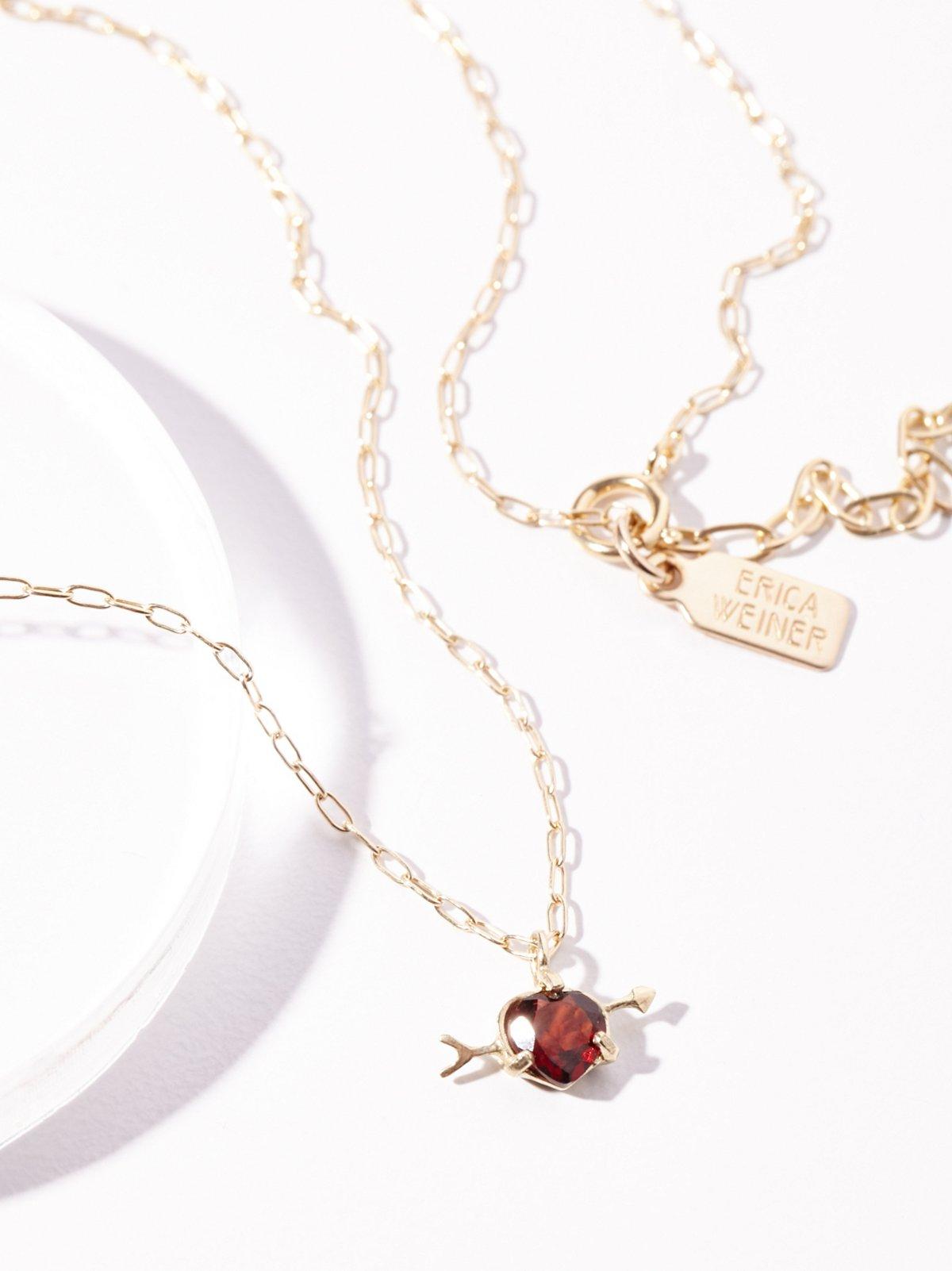 10k Cupids Heart Necklace