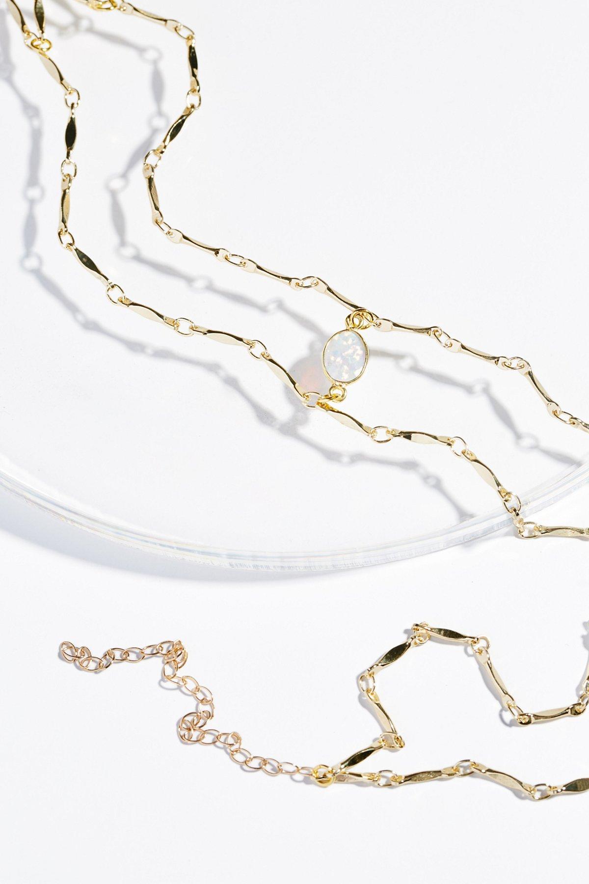 Opal Draped Delicate Choker