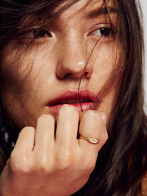 Product Image: 14k Pave Diamond Signet Ring