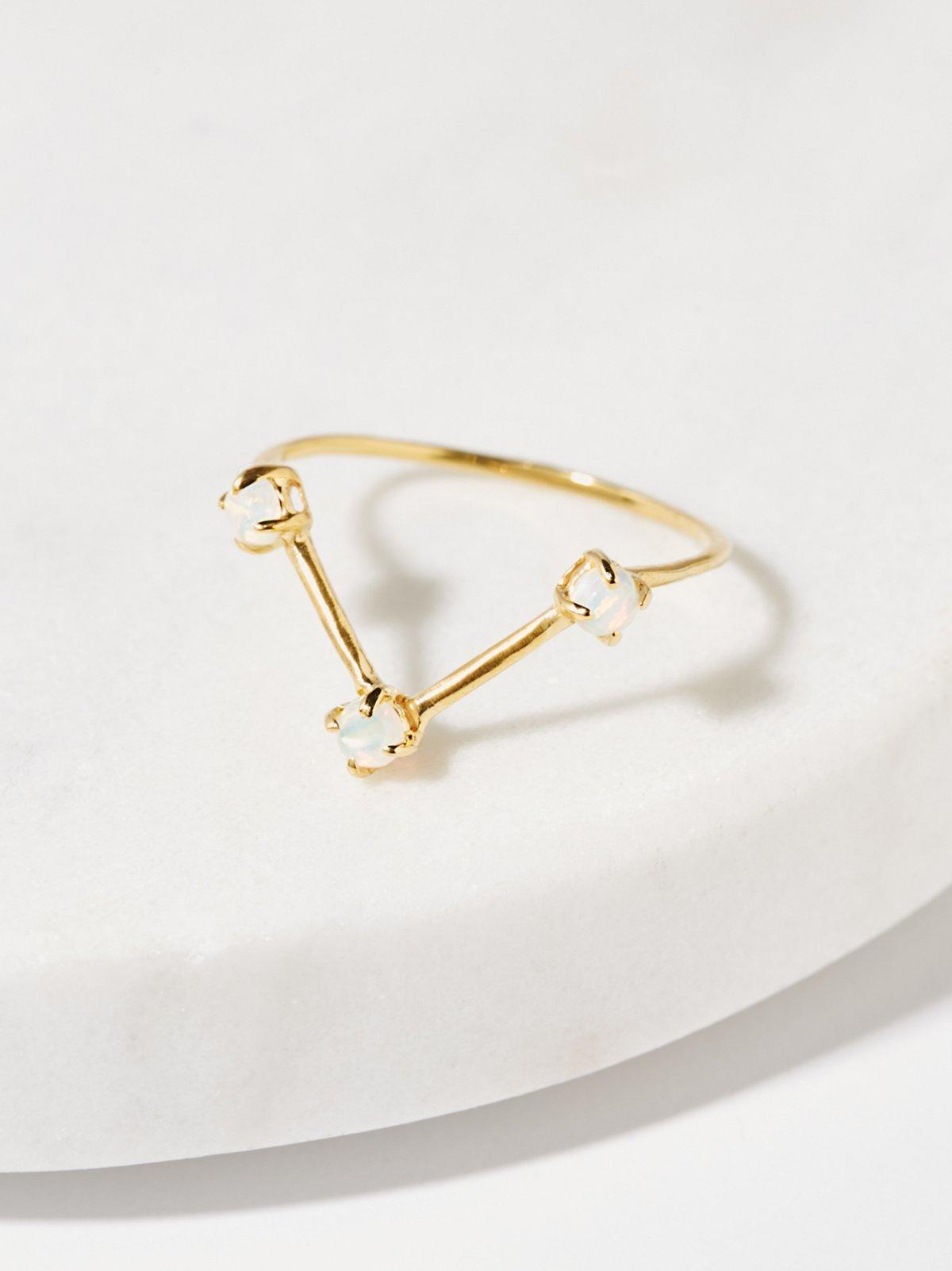 Triple Opal Delicate Ring