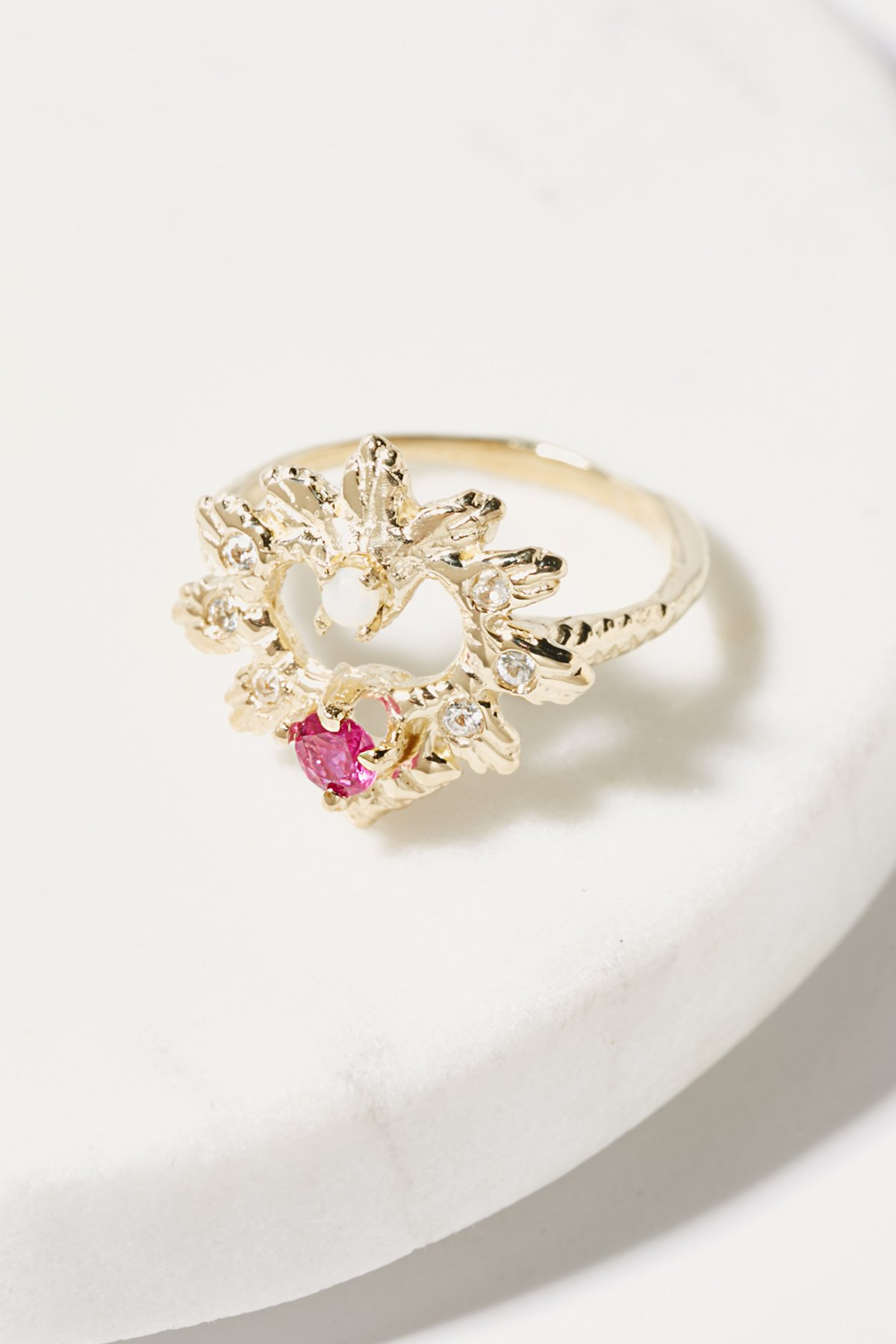 14K Heart Of Paradise Ring