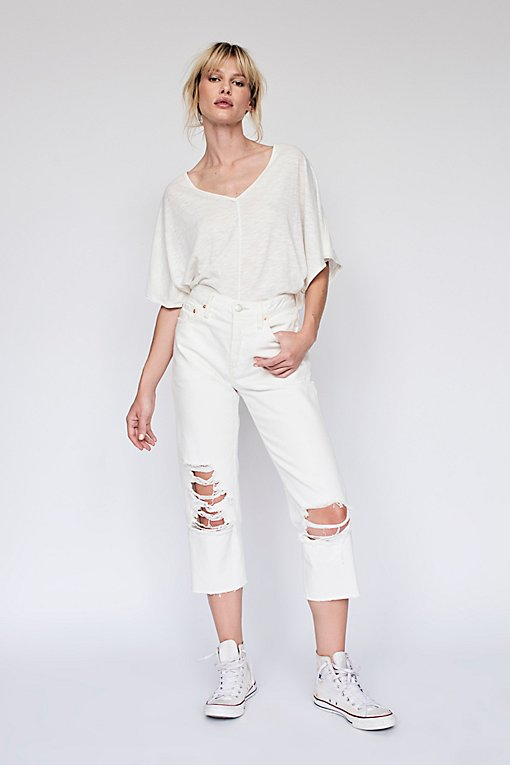 Product Image: Cropped Ripped Boyfriend Jean