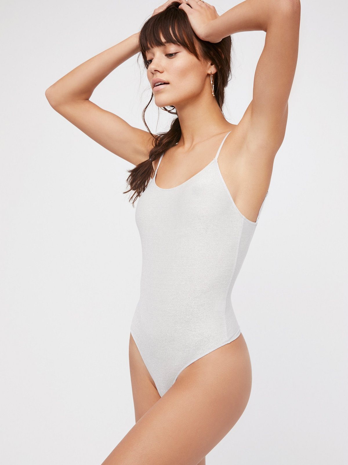 Metallic Low Back Bodysuit