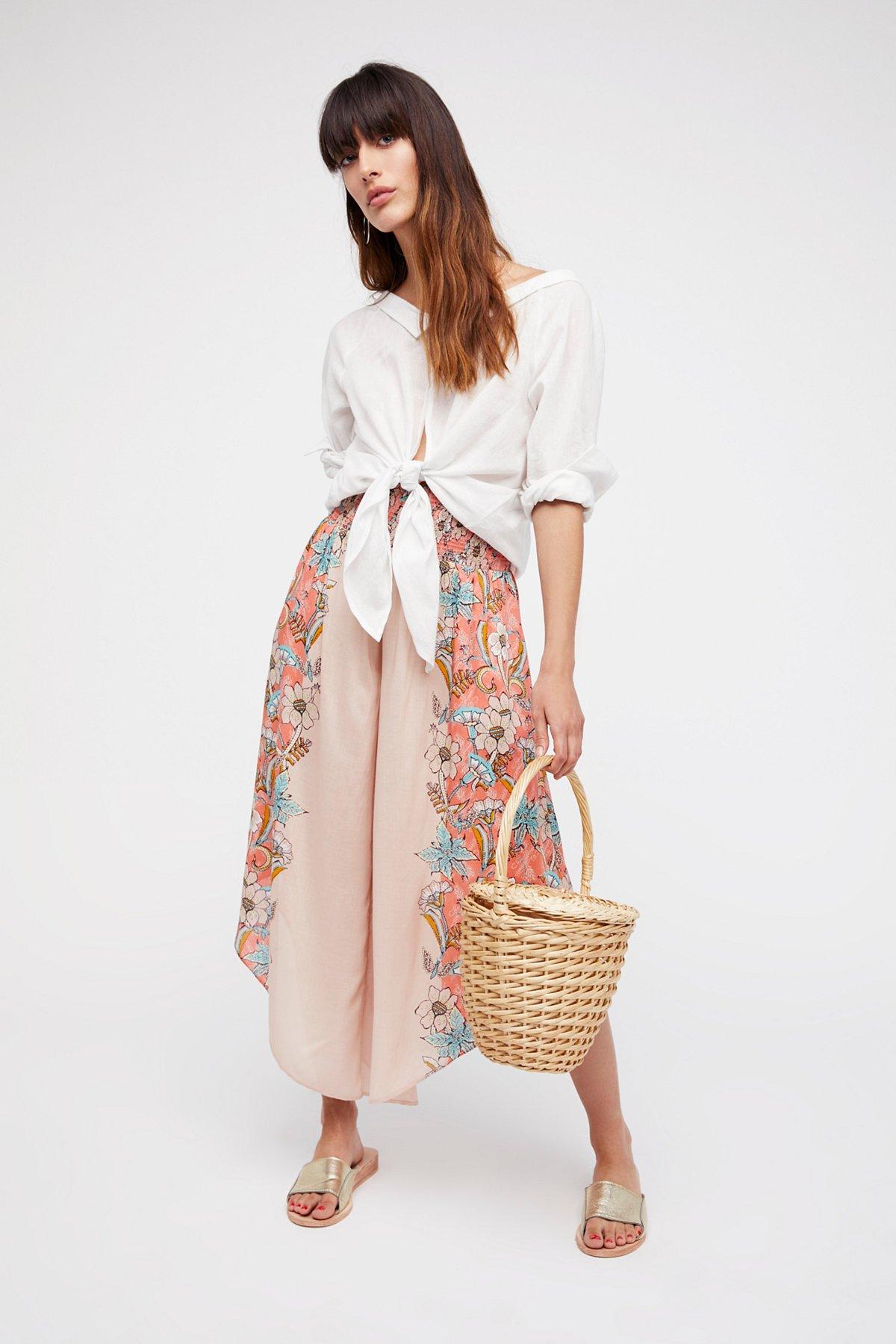 Miranda Angular Printed Pull-On Trousers