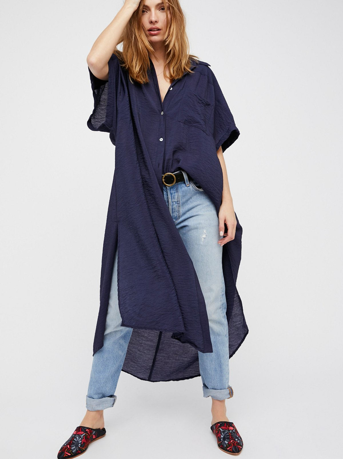 Lovely Things No.13 - Navy Georgie Maxi Top