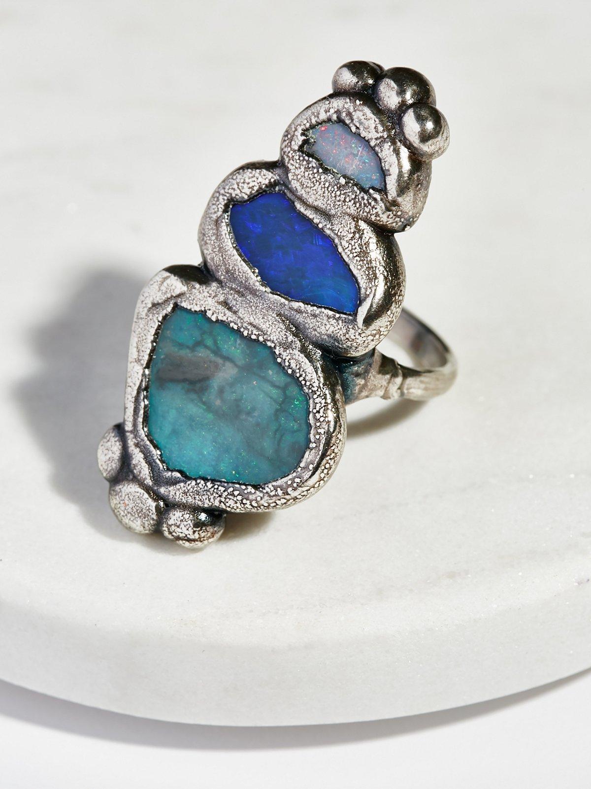 Paradox Triple Opal Ring