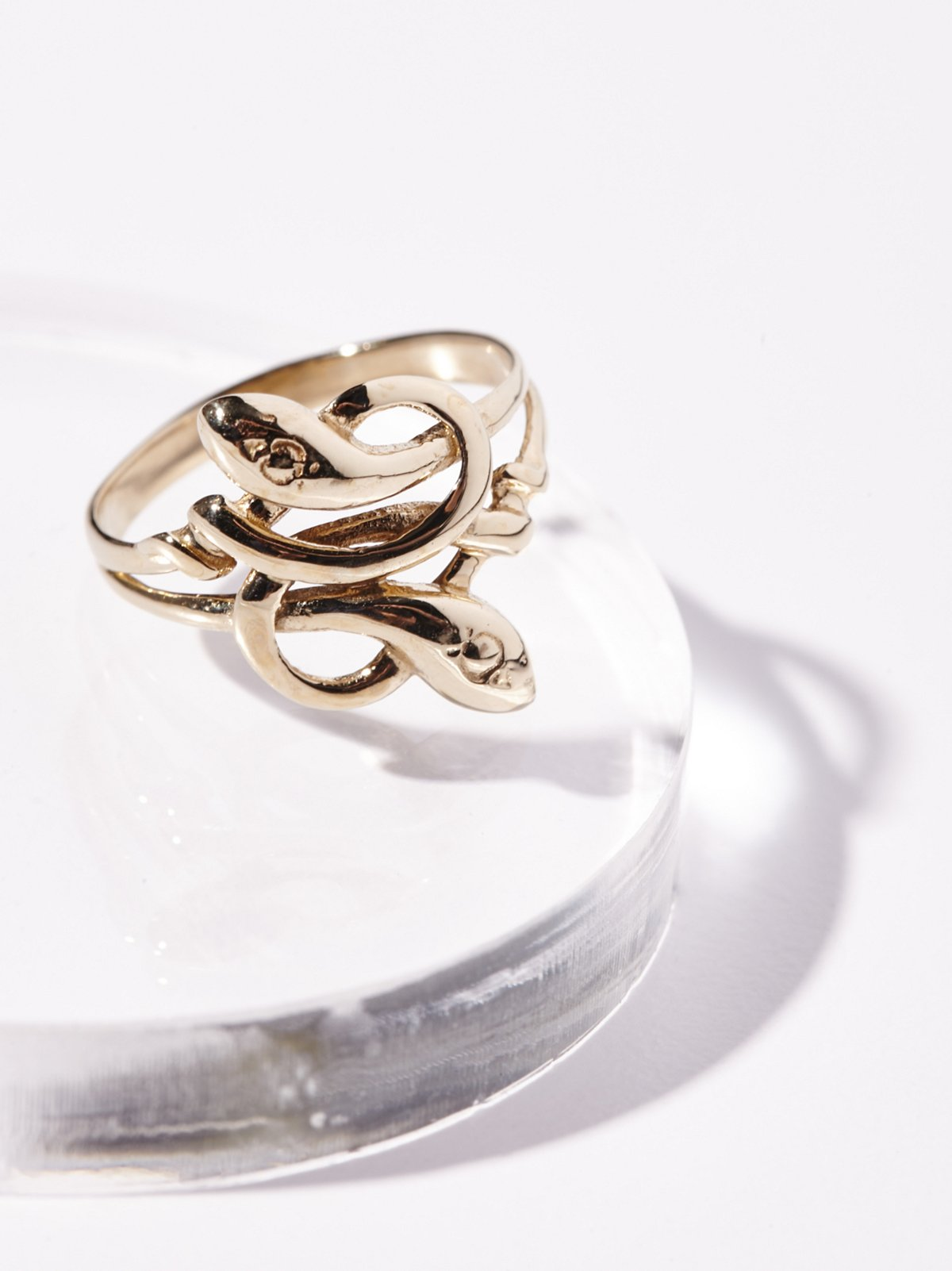 10k Love Knot Serpent Ring