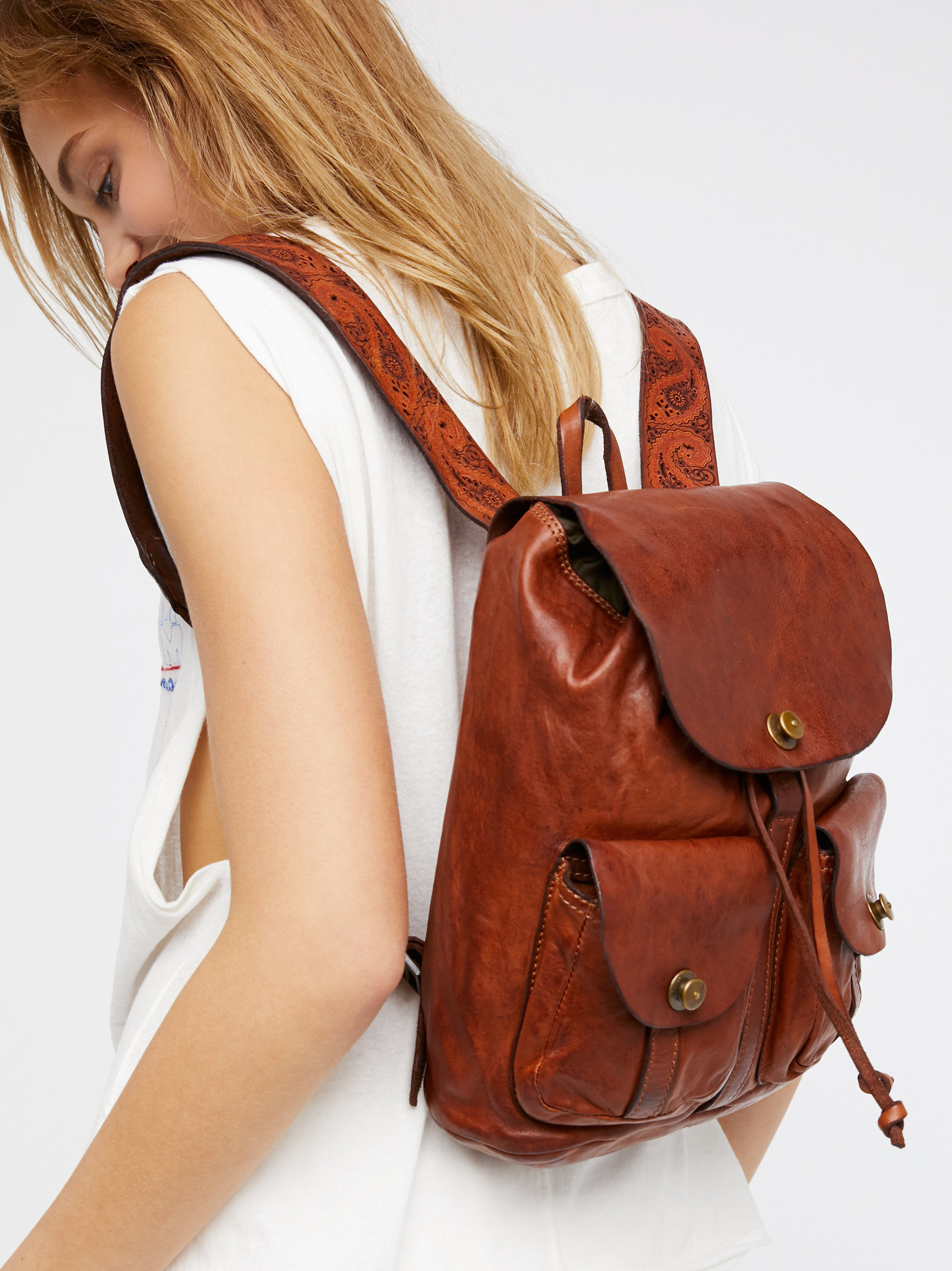 Campomaggi Forli Leather Backpack at Free People Clothing Boutique