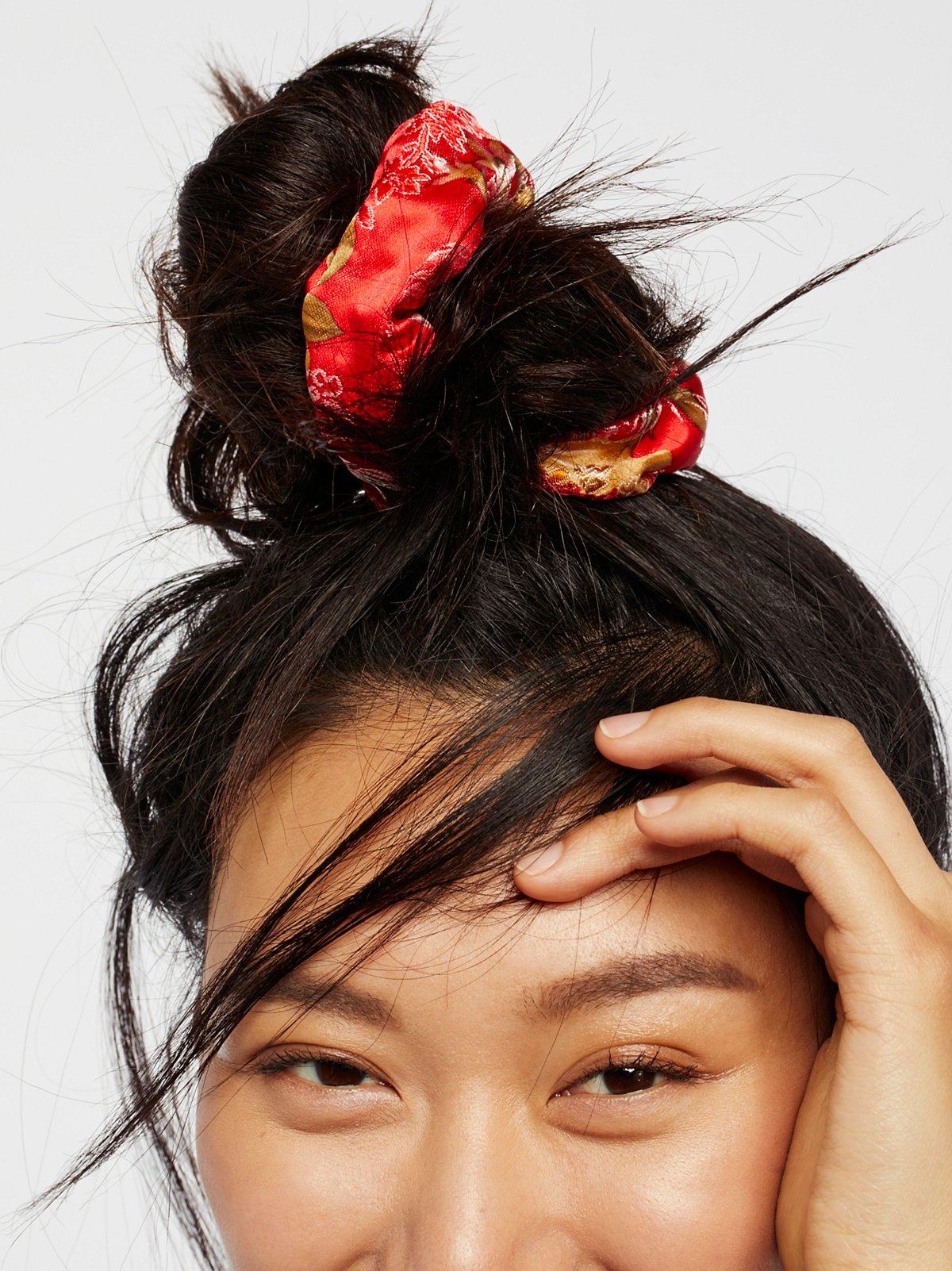 Silk Brocade Scrunchie