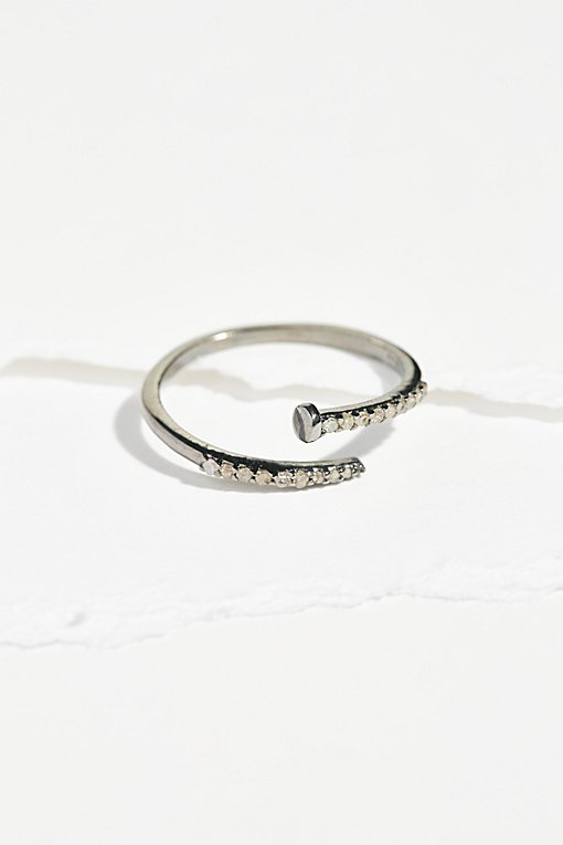 Product Image: Pave Diamond Nail Wrap Ring