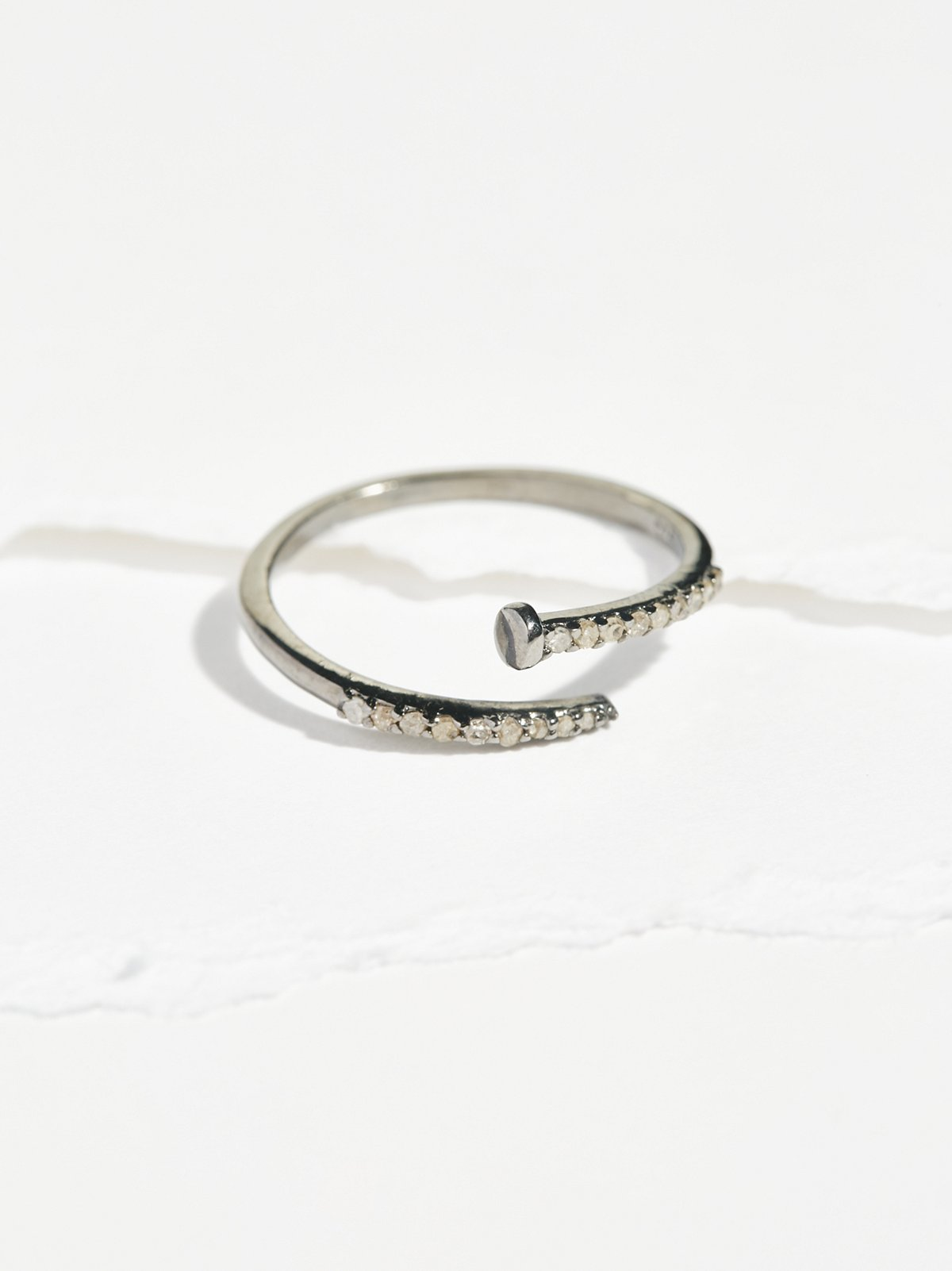 Pave Diamond Nail Wrap Ring