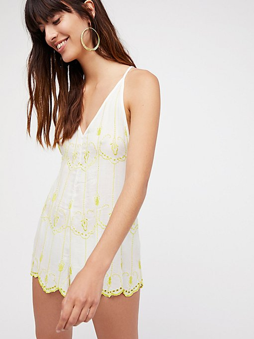 Product Image: Boo Yah Embroidered Playsuit