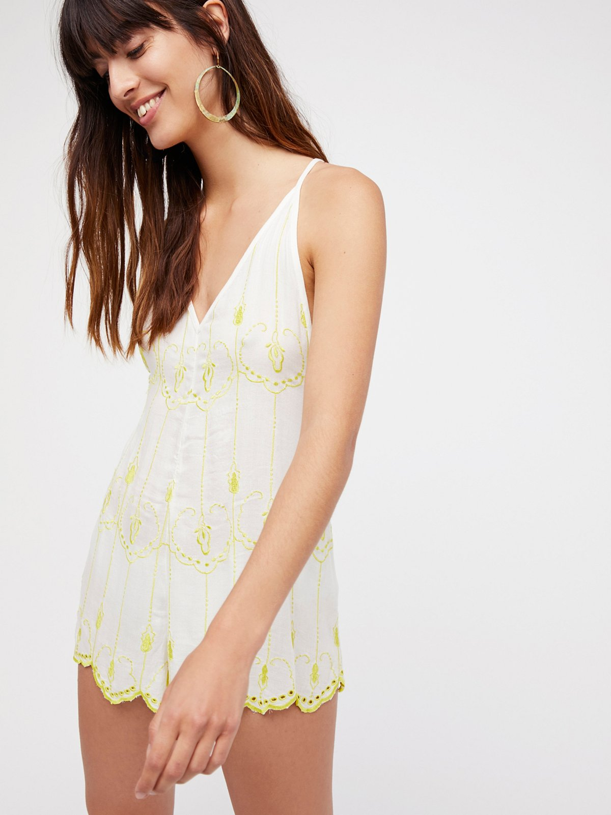 Boo Yah Embroidered Playsuit