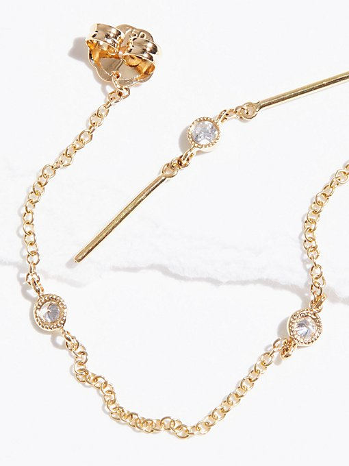 Product Image: Diamond Chain Orbital Earrings
