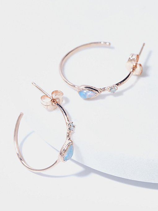 Product Image: 14k Guided Light Diamond Hoops