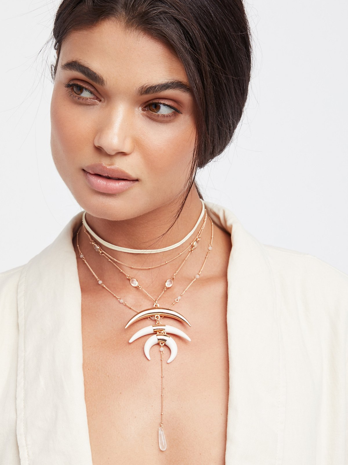 Wren Triple Horn Necklace
