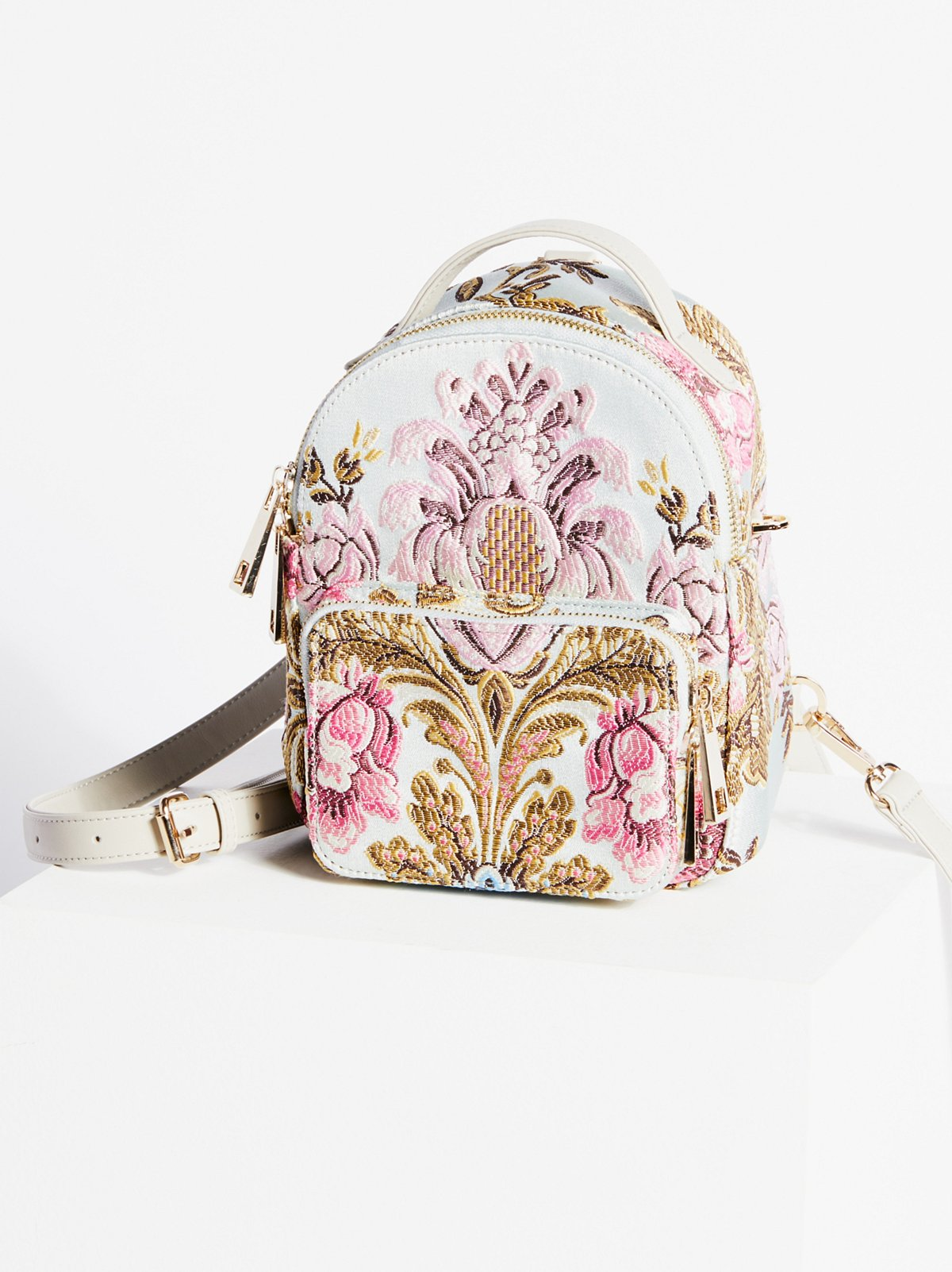 Brocade Floral Mini Backpack