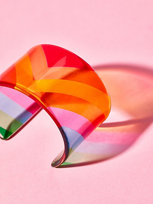 Product Image: Lucite Colorblock Cuff
