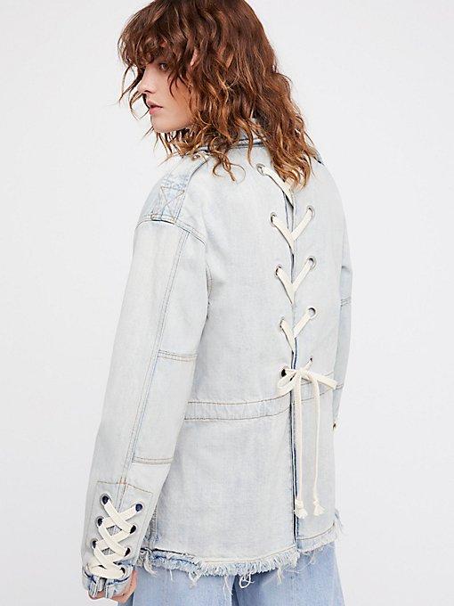 Product Image: Denim Lace-Up Jacket