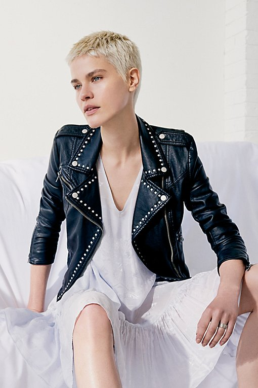 Product Image: Studded Vegan Moto Jacket