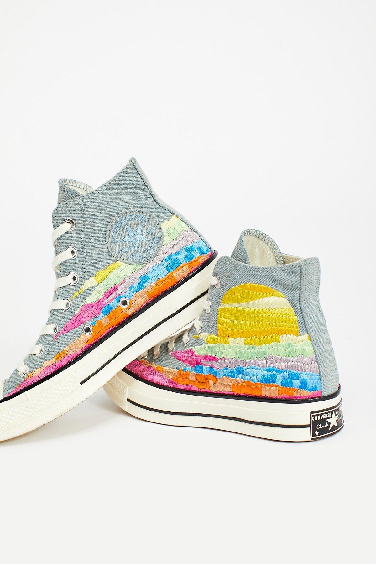 Mara Hoffman x Converse High Top Sneakers