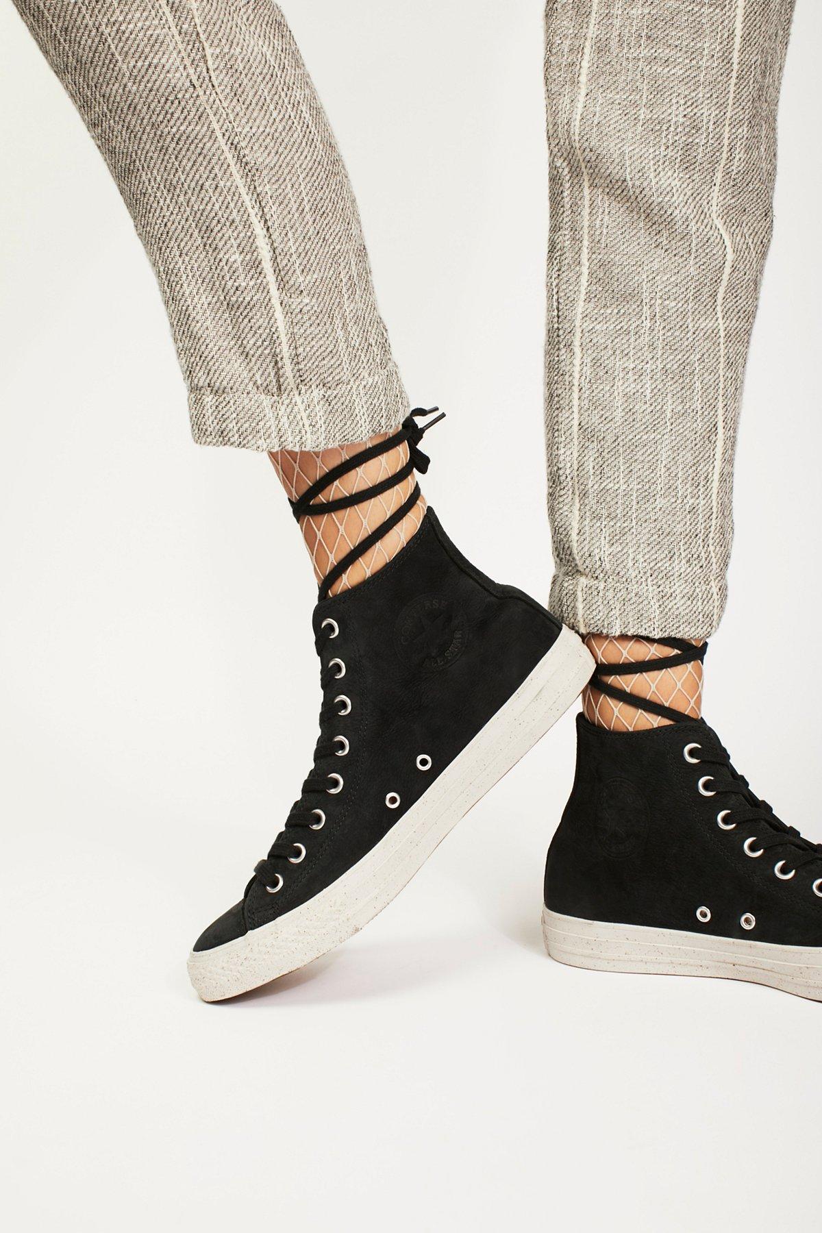 大理石纹鞋底高帮运动鞋