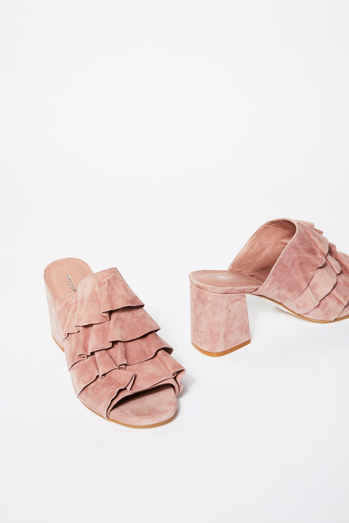 Cleo Ruffle Block Heel