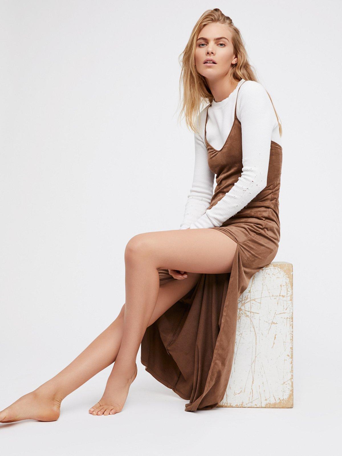 绒面革长衬裙