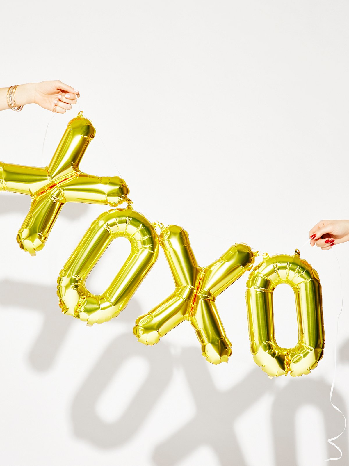 xoxo Metallic Ballons