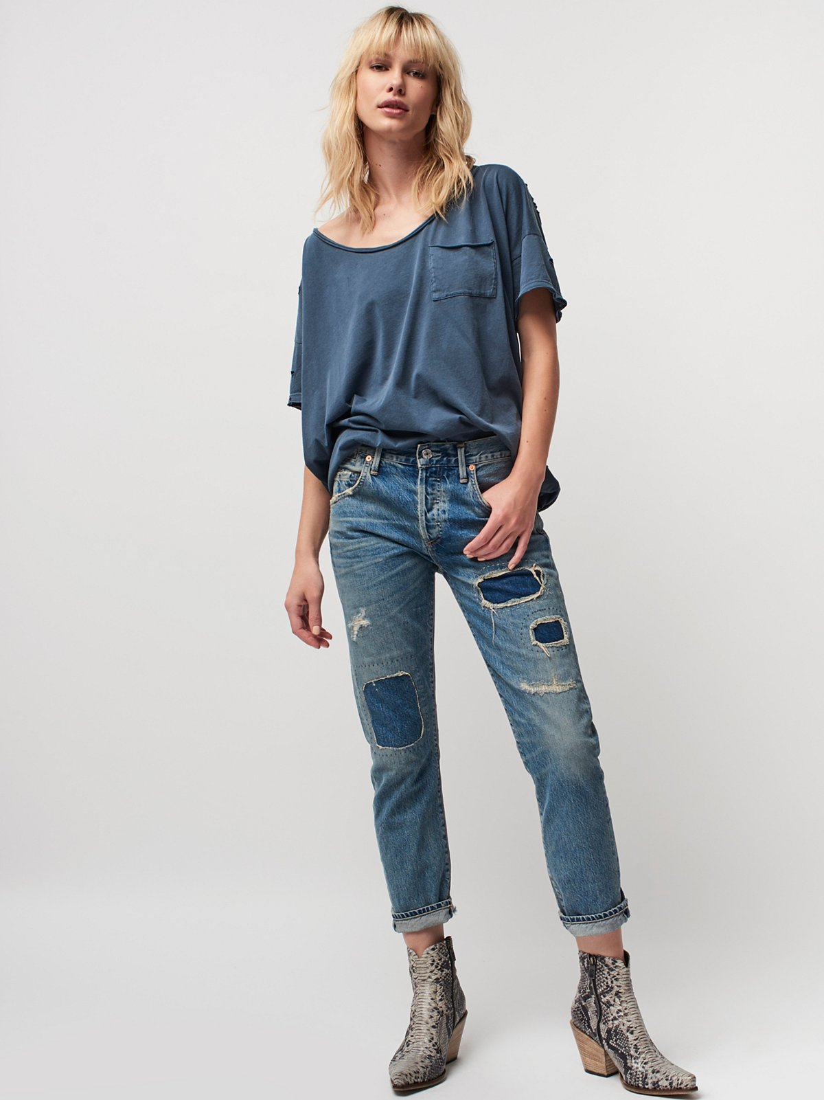 Citizens of Humanity x Free People Emerson Slim Boyfriend Jeans at ...
