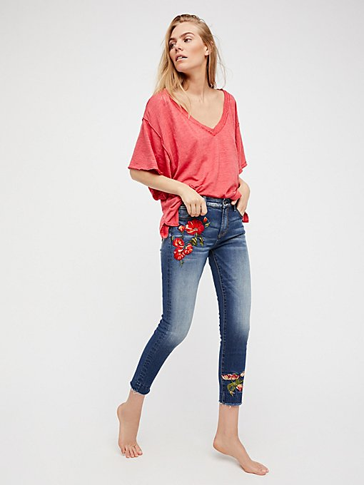 Product Image: Jackie Embroidered Skinny Jeans