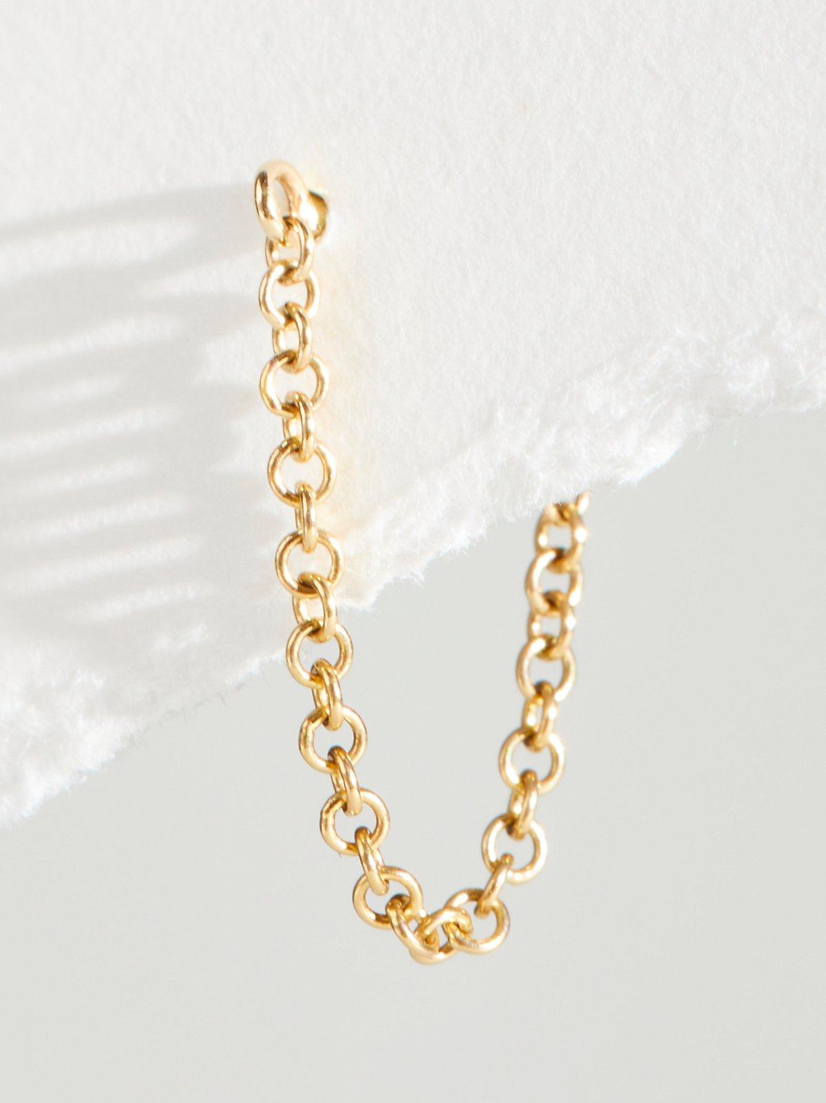 14K Chain Wrap Stud