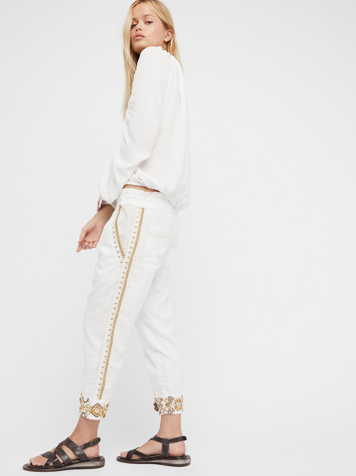 Embroidered Louise Harem Pant