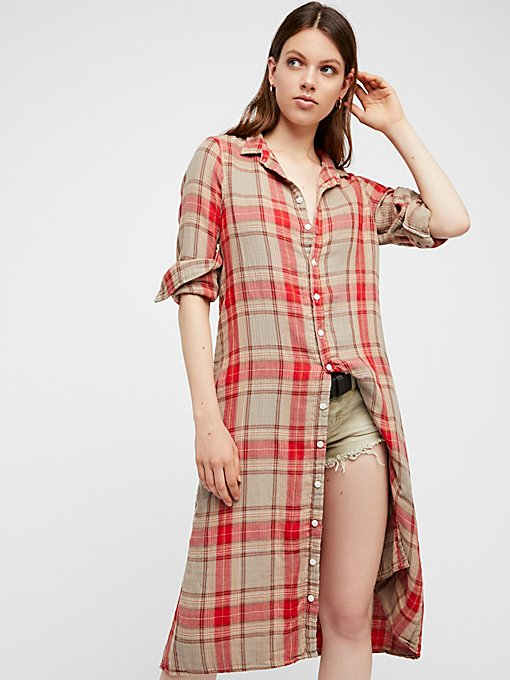 Product Image: Doublecloth Plaid Maxi