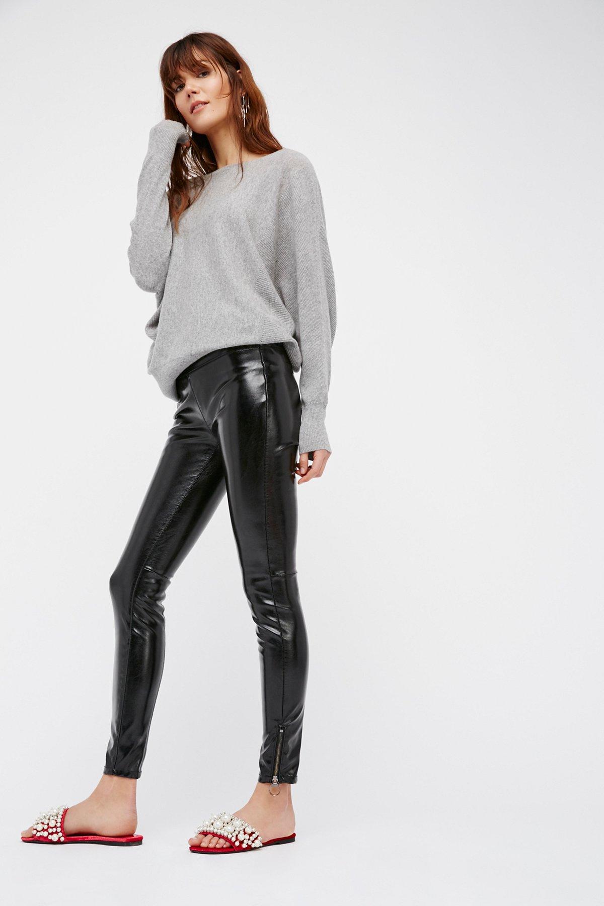 Patent Vegan Leather Leggings